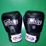 Fairtex gloves muay thai Black color