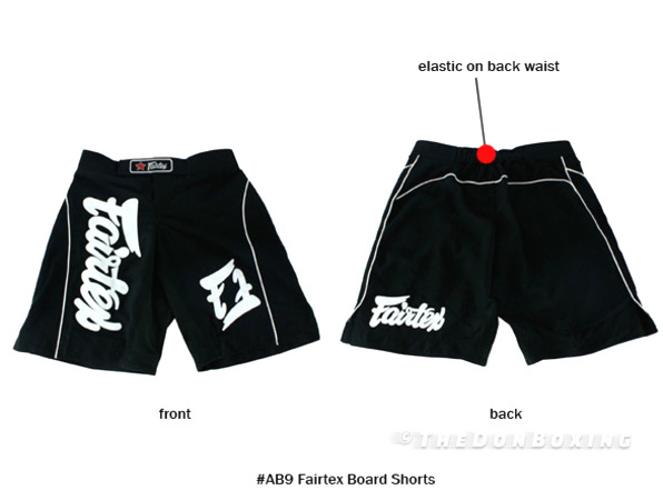 Fairtex MMA shorts Black and White