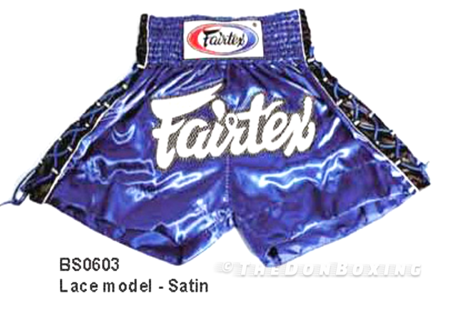 Muay thai blue shorts from fairtex