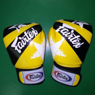 fairtex yellow Muay thai gloves Nation