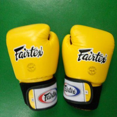 fairtex yellow boxing gloves
