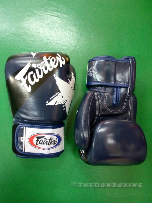 Fairtex Boxing Gloves Nations style Blue BGV1