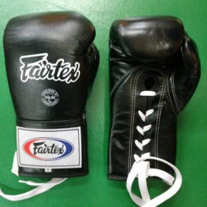 Fairtex Pro Microfiber boxing gloves for sparring Black BGL6