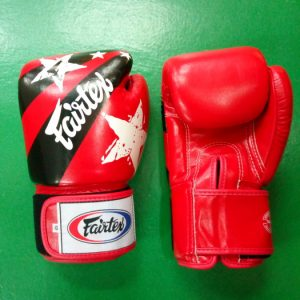 Fairtex Boxing Gloves Nations style– Red,white, black BGV1