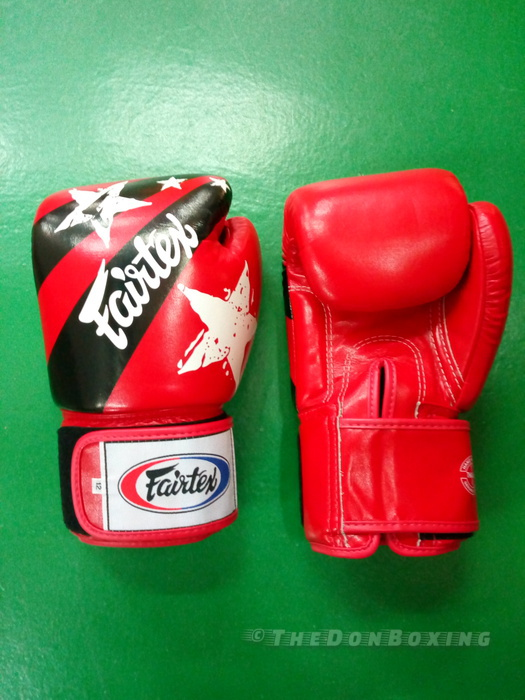 Fairtex Boxing Gloves Nations style– Red,white, black BGV1