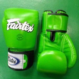 fairtex boxing gloves green white BGV1