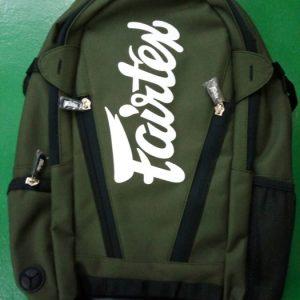 Fairtex gym bag with laptop sleeveGreen