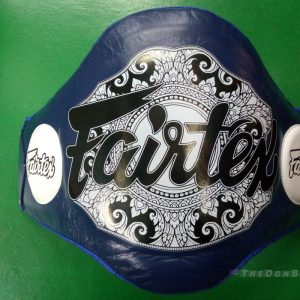 Fairtex Light-Weight Belly Pad trainer friendly and durable – Blue BPV2