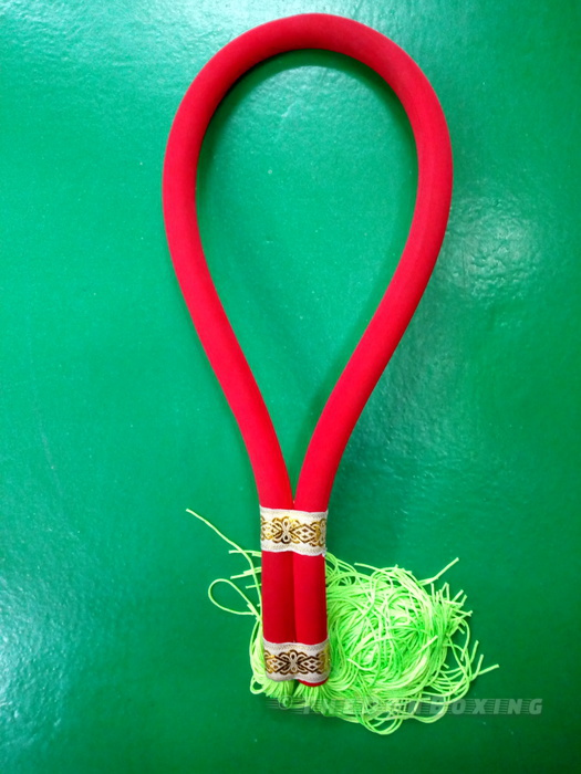 Twins Special simple Muaythai Headbands used as a pre fight ritual dance (Red and Green ) MK1