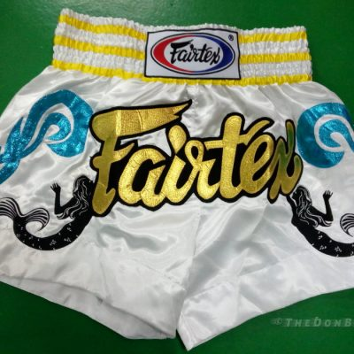 Muay thai shorts fairtex Gold, yellow ,Turquoise