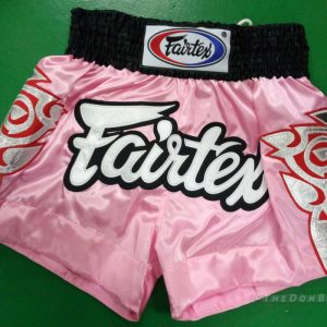 Fairtex Muay Thai shorts modern (PINK ,WHITE/BLACK)