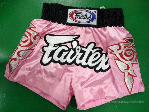 Fairtex Muay Thai shorts modern (PINK ,WHITE/BLACK)