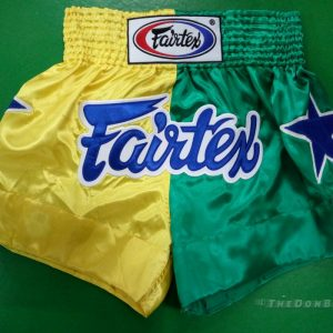 Muay Thai shorts (yellow, green ,and blue)