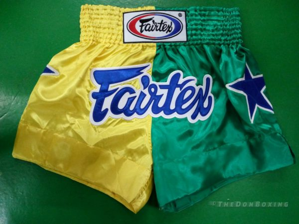 Muay Thai shorts (yellow, green ,and blue)