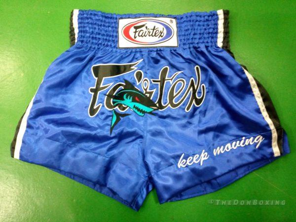 Fairtex Muay Thai Shorts with a shark on it