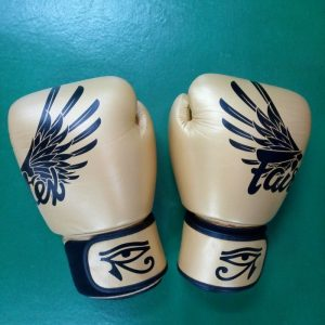 Fairtex Boxing Gloves Breathable (Falcon Gold & black)