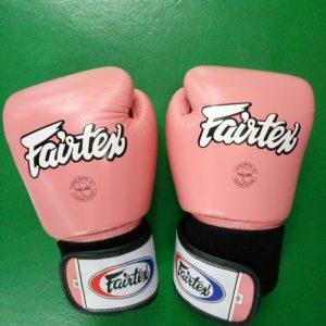 Fairtex Muay thai boxing Gloves colors: Pink and White) BGV1