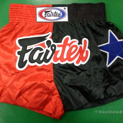 Fairtex Muay thai shorts fairfax (Black ,red blue)