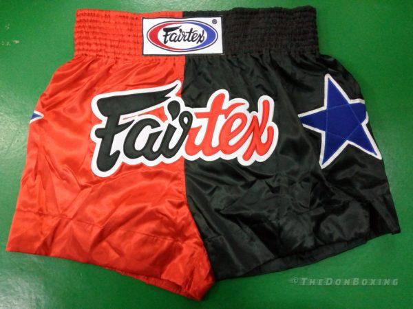 Fairtex Muay thai shorts fairfax (Black ,red blue)