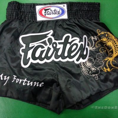 fairtex muay thai shorts (Dragon) Black, white and Gold colors