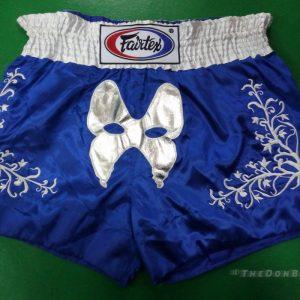 Fairtex thai boxing shorts (blue & white)