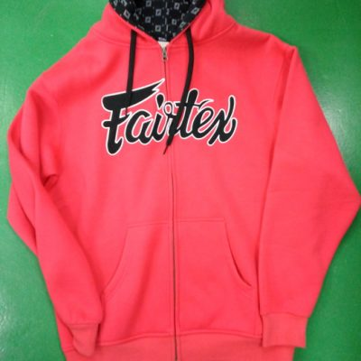 Fairtex Hooded Sweatshirt casual – Red color FHS5