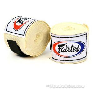 Cream Premium Cotton Boxing Hand Wraps 4.5 m - HW2