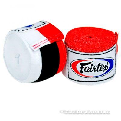 Red White Premium Cotton Boxing Hand Wraps HW2