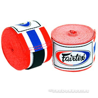 Thai Flag Red Blue Premium Cotton Boxing Hand Wraps HW2