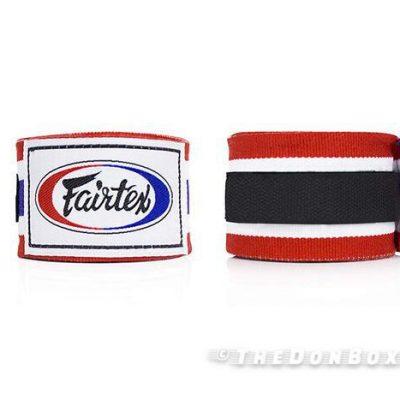 Thai Pride Black Red Premium Cotton Boxing Hand Wraps HW2